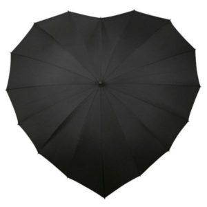 paraguas corazón a prueba viento