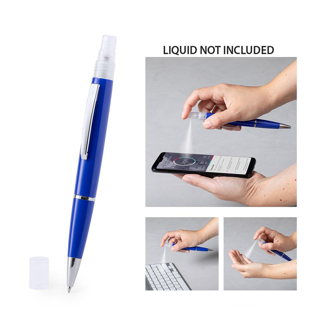 bolígrafo higienizante con pulverizador