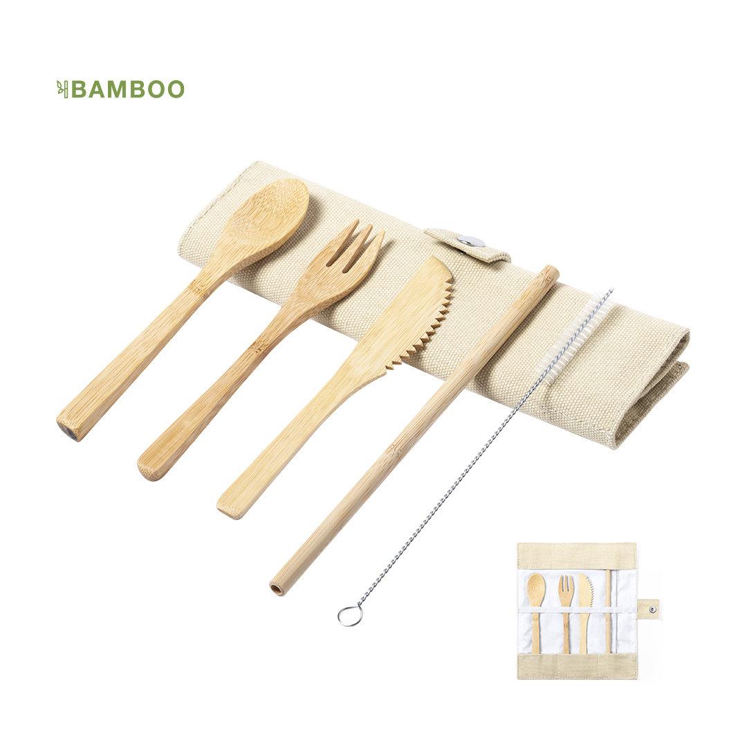 Set de cubiertos bambú